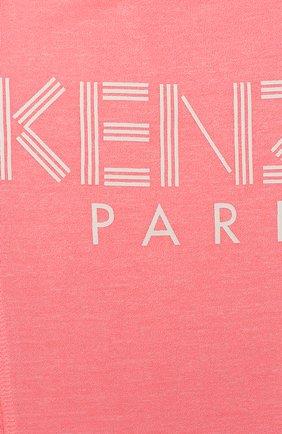 Детская топ KENZO розового цвета, арт. KQ10288 | Фото 3