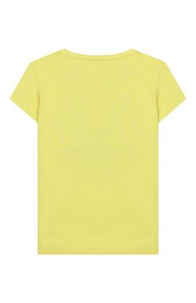 Детская хлопковая футболка KENZO желтого цвета, арт. KQ10198 | Фото 2