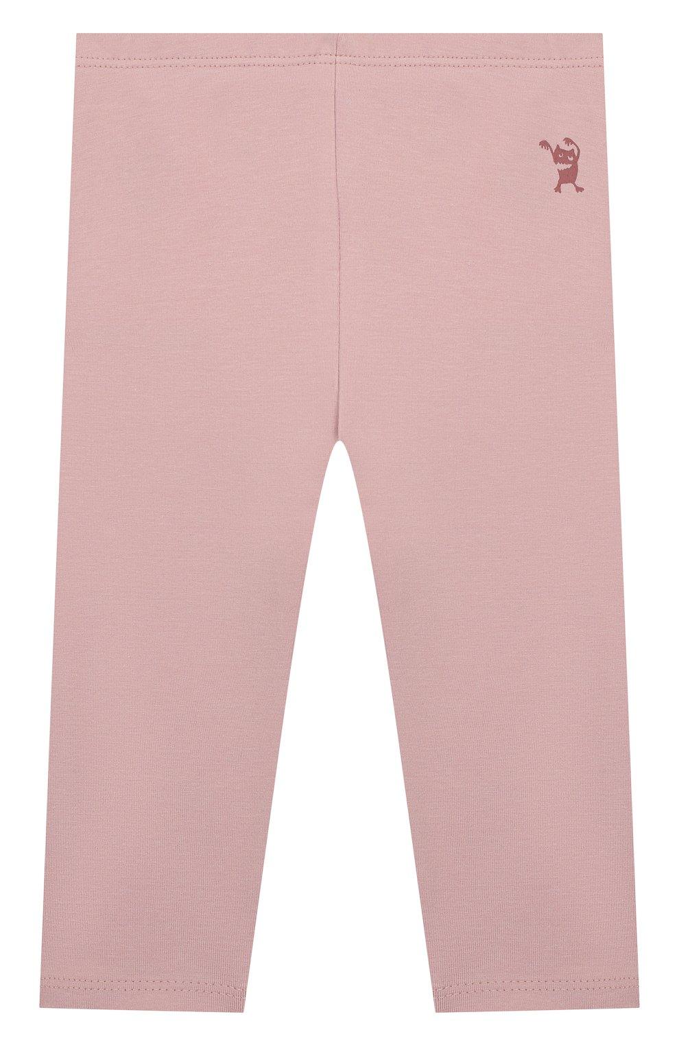 Детские хлопковые брюки SANETTA розового цвета, арт. 10066 3037 | Фото 1