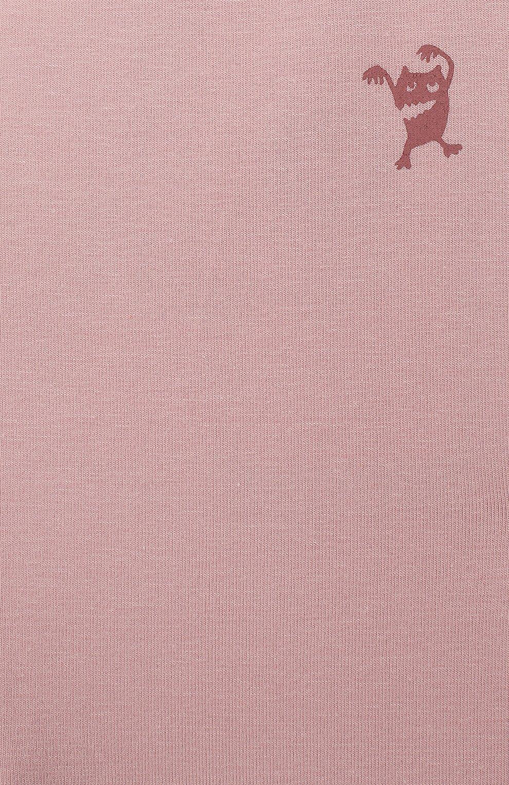 Детские хлопковые брюки SANETTA розового цвета, арт. 10066 3037 | Фото 3