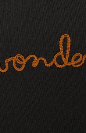 Детский хлопковый свитшот SANETTA серого цвета, арт. 10010 1918 | Фото 3