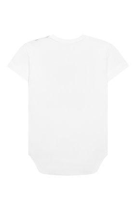 Детское хлопковое боди SANETTA белого цвета, арт. 321850 0010 | Фото 2