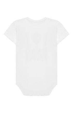 Детское хлопковое боди SANETTA белого цвета, арт. 321851 0010 | Фото 2
