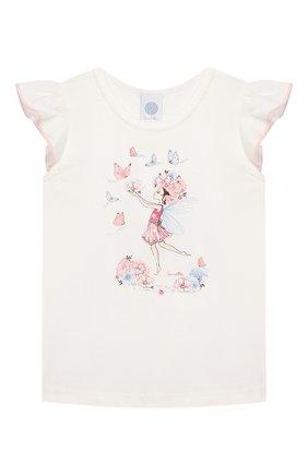 Детская хлопковая пижама SANETTA белого цвета, арт. 232403 1427 | Фото 2