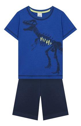 Женская хлопковая пижама SANETTA синего цвета, арт. 232440 0519 | Фото 1