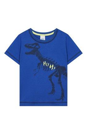 Женская хлопковая пижама SANETTA синего цвета, арт. 232440 0519 | Фото 2