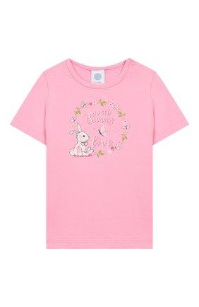 Детский хлопковая пижама SANETTA розового цвета, арт. 221525 3813 | Фото 2