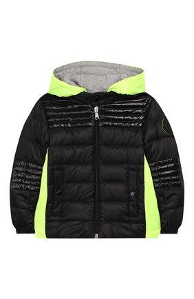 Детского пуховая куртка MONCLER черного цвета, арт. F1-951-1A504-20-53334 | Фото 1