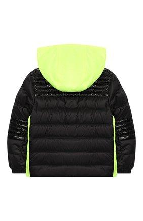 Детского пуховая куртка MONCLER черного цвета, арт. F1-951-1A504-20-53334 | Фото 2