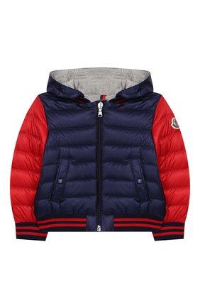 Детского пуховая куртка MONCLER синего цвета, арт. F1-951-1A512-20-53334 | Фото 1
