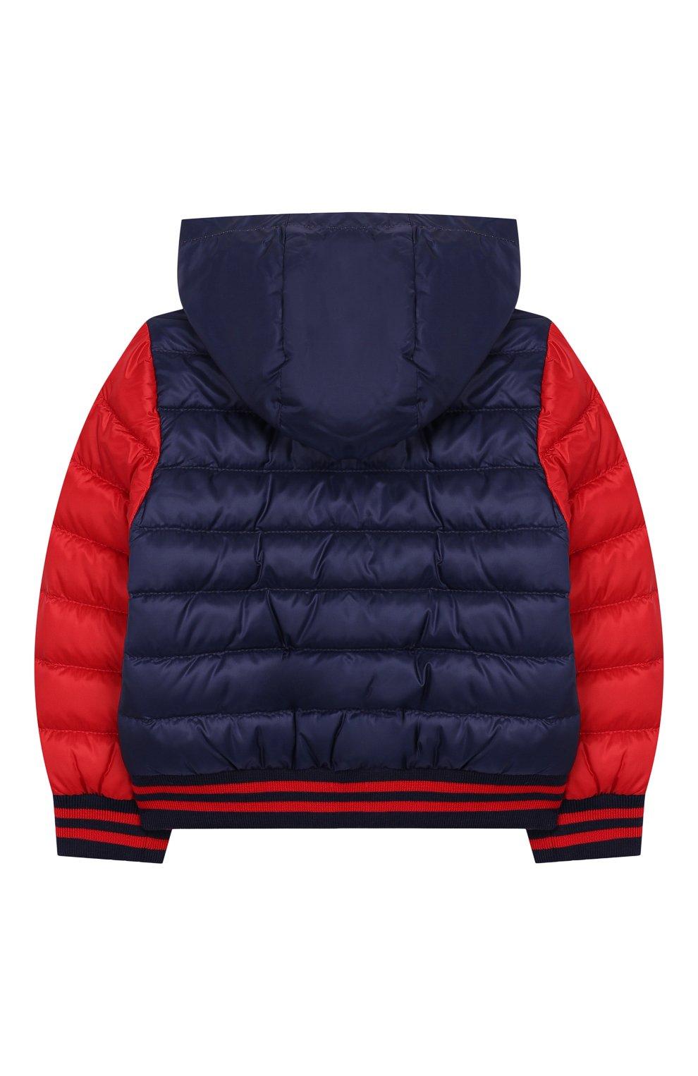Детского пуховая куртка MONCLER синего цвета, арт. F1-951-1A512-20-53334 | Фото 2