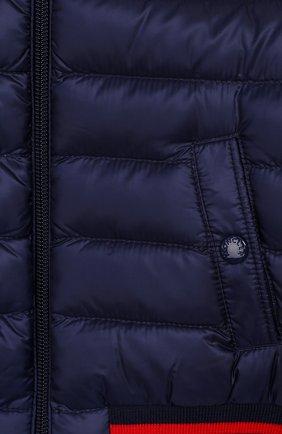 Детского пуховая куртка MONCLER синего цвета, арт. F1-951-1A512-20-53334 | Фото 3