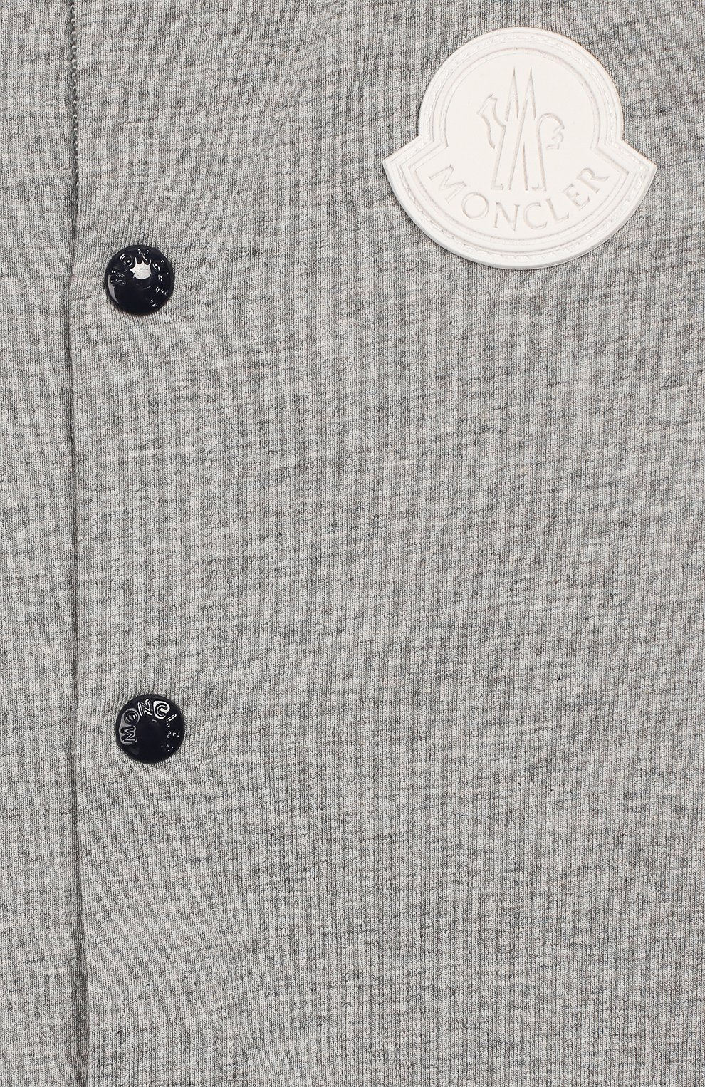 Детское хлопковый комбинезон MONCLER серого цвета, арт. F1-951-8L709-20-8790A | Фото 3