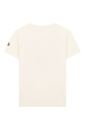 Детская хлопковая футболка MONCLER белого цвета, арт. F1-954-8C719-20-83907/8-10A | Фото 2