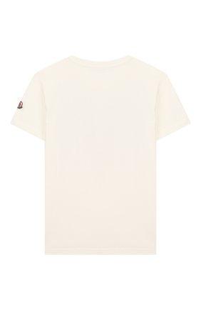 Детская хлопковая футболка MONCLER белого цвета, арт. F1-954-8C719-20-83907/12-14A | Фото 2