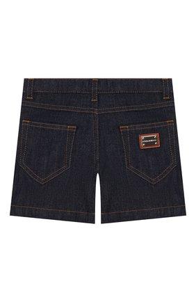 Детские джинсовые шорты DOLCE & GABBANA темно-синего цвета, арт. L52Q49/LD888/2-6   Фото 2 (Материал внешний: Хлопок; Девочки Кросс-КТ: Шорты-одежда; Ростовка одежда: 3 года   98 см)