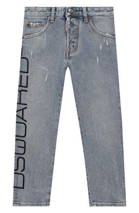 Детские джинсы DSQUARED2 голубого цвета, арт. DQ03NP-D00Y7 | Фото 1