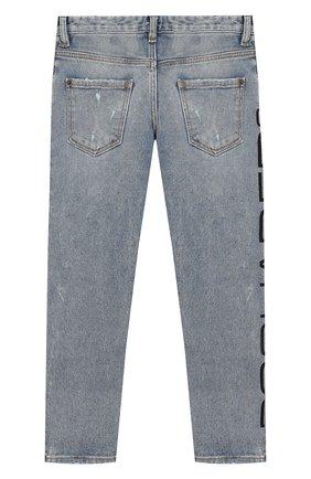 Детские джинсы DSQUARED2 голубого цвета, арт. DQ03NP-D00Y7 | Фото 2