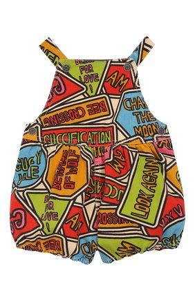 Детский хлопковый комбинезон GUCCI разноцветного цвета, арт. 595898/XDA15 | Фото 1