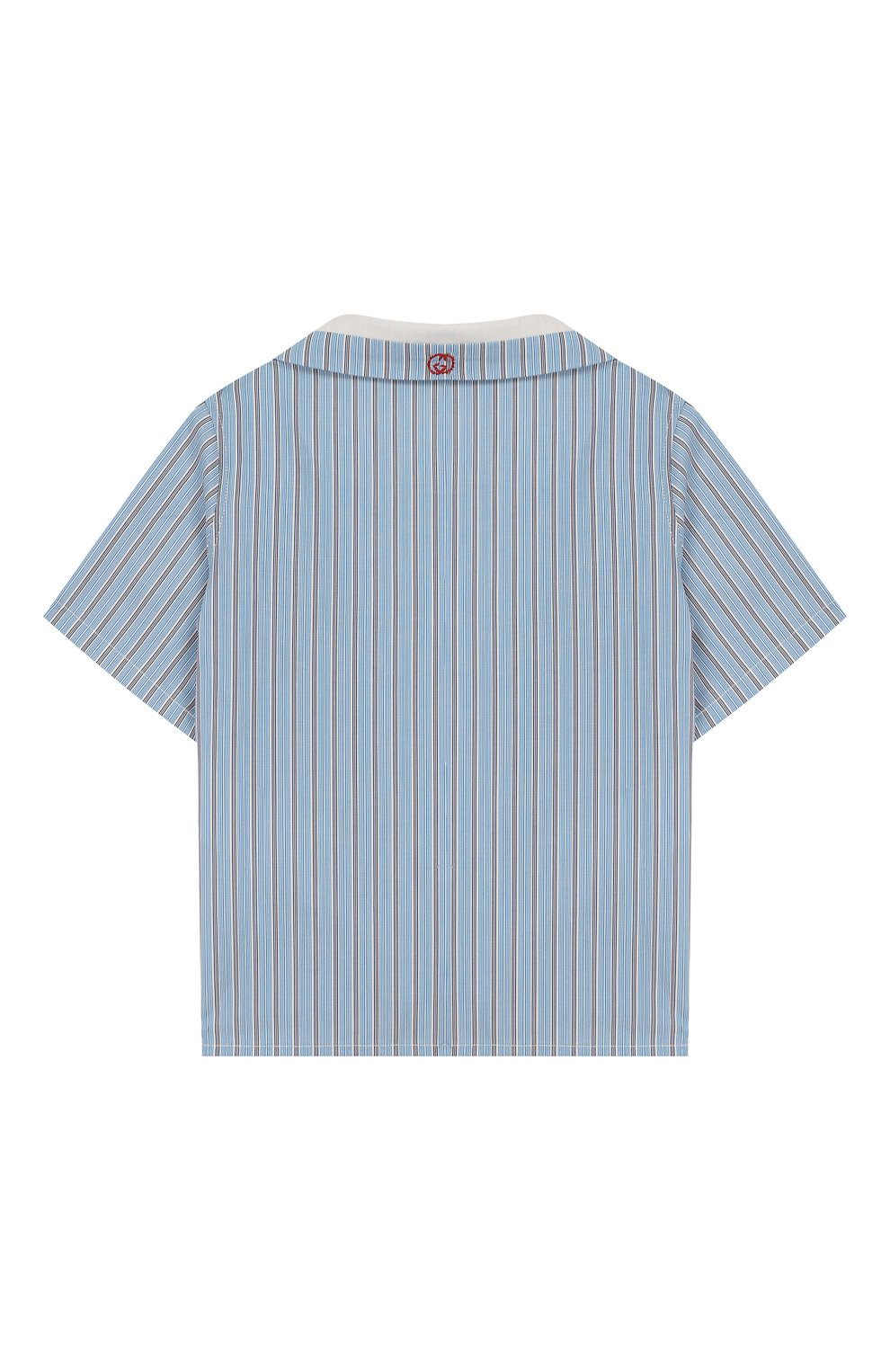 Детский хлопковая рубашка GUCCI голубого цвета, арт. 591650/XWAHQ | Фото 2