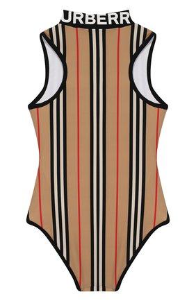 Детского слитный купальник BURBERRY бежевого цвета, арт. 8026512   Фото 2