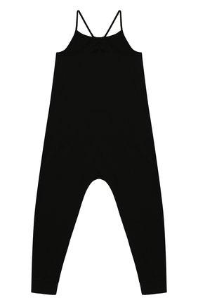 Детский хлопковый комбинезон BURBERRY черного цвета, арт. 8026459   Фото 2