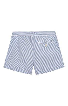 Детские хлопковые шорты POLO RALPH LAUREN голубого цвета, арт. 313784541 | Фото 2