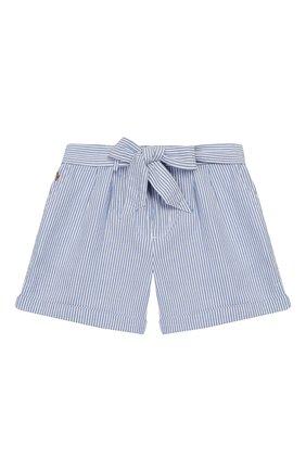 Детские хлопковые шорты POLO RALPH LAUREN голубого цвета, арт. 312784541 | Фото 1