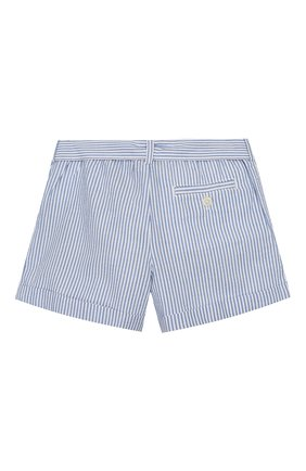 Детские хлопковые шорты POLO RALPH LAUREN голубого цвета, арт. 312784541 | Фото 2