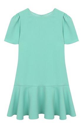 Детское платье DOLCE & GABBANA бирюзового цвета, арт. L52DH4/G7WBH/2-6 | Фото 1