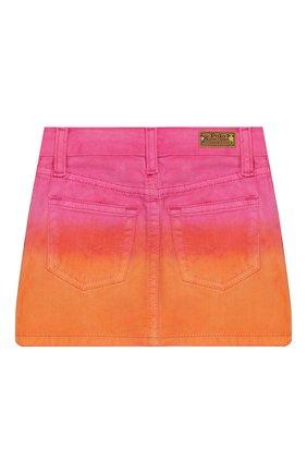 Детская джинсовая юбка POLO RALPH LAUREN разноцветного цвета, арт. 313783739 | Фото 2