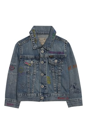 Детская джинсовая куртка POLO RALPH LAUREN голубого цвета, арт. 311783770 | Фото 1