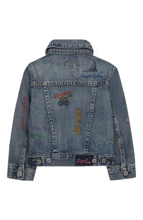 Детская джинсовая куртка POLO RALPH LAUREN голубого цвета, арт. 311783770 | Фото 2