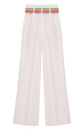Детского хлопковые брюки INDEE белого цвета, арт. G0ELAND/WHITE/8A-10A | Фото 2