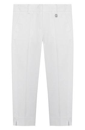 Детские хлопковые брюки SIMONETTA белого цвета, арт. 1M6063/MC380/10-14+ | Фото 1