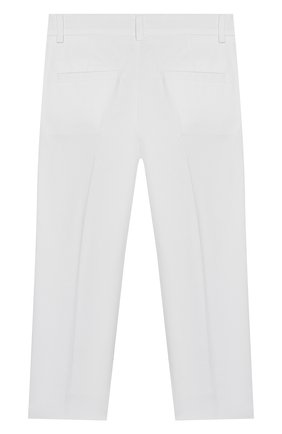 Детские хлопковые брюки SIMONETTA белого цвета, арт. 1M6063/MC380/10-14+ | Фото 2
