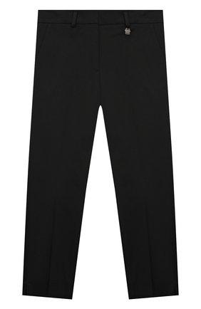 Детского хлопковые брюки SIMONETTA черного цвета, арт. 1M6063/MC380/10-14+ | Фото 1