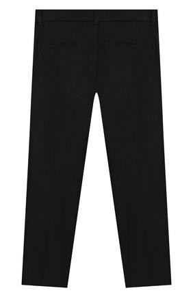 Детского хлопковые брюки SIMONETTA черного цвета, арт. 1M6063/MC380/10-14+ | Фото 2