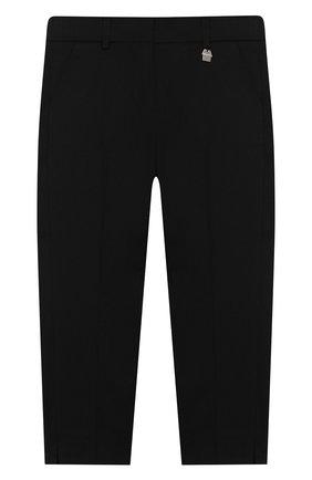 Детского хлопковые брюки SIMONETTA черного цвета, арт. 1M6063/MC380/5-8 | Фото 1