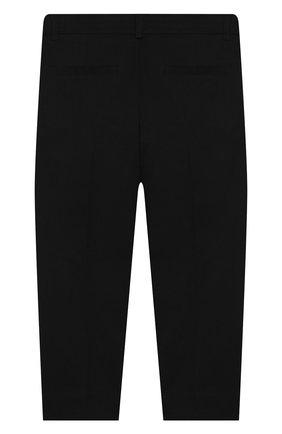 Детского хлопковые брюки SIMONETTA черного цвета, арт. 1M6063/MC380/5-8 | Фото 2