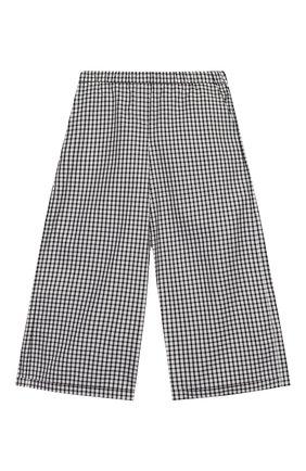 Детские хлопковые брюки SIMONETTA черно-белого цвета, арт. 1M6101/MC370/10-14+ | Фото 1