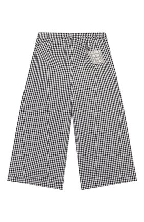 Детские хлопковые брюки SIMONETTA черно-белого цвета, арт. 1M6101/MC370/10-14+ | Фото 2
