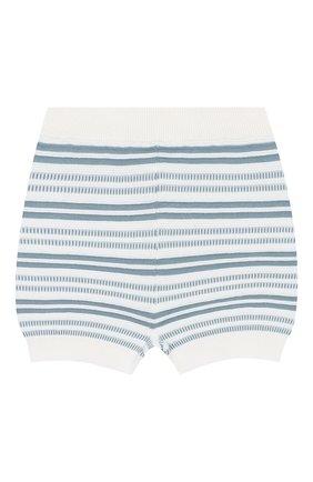 Детские хлопковые шорты LORO PIANA голубого цвета, арт. FAI9892 | Фото 1
