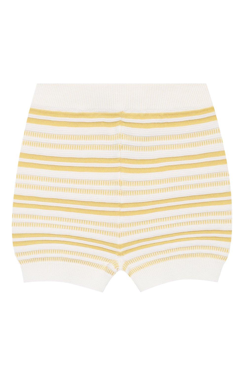 Детские хлопковые шорты LORO PIANA желтого цвета, арт. FAI9892   Фото 1