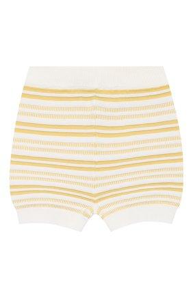 Детские хлопковые шорты LORO PIANA желтого цвета, арт. FAI9892 | Фото 1