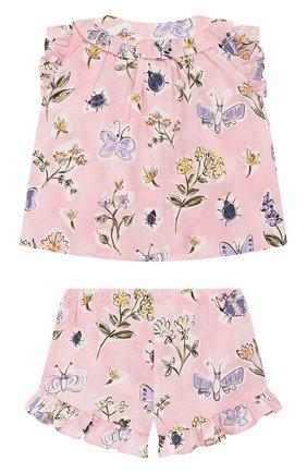 Детский комплект из топа и шорт IL GUFO розового цвета, арт. P20DP330C4059/3M-9M | Фото 2