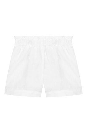 Детские льняные шорты IL GUFO белого цвета, арт. P20PS063L6009/10A-12A | Фото 1