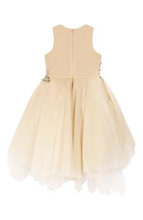 Детское платье MISCHKA AOKI золотого цвета, арт. SS20356/10-12   Фото 2