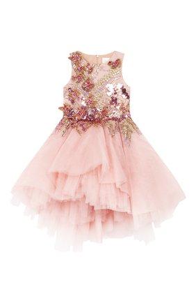 Детское платье MISCHKA AOKI розового цвета, арт. SS20158/10-12   Фото 1