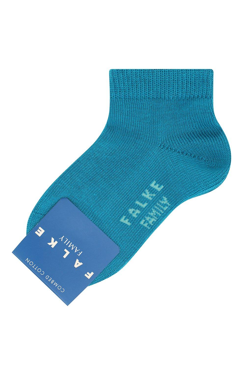 Детские хлопковые носки FALKE голубого цвета, арт. 10631 | Фото 1